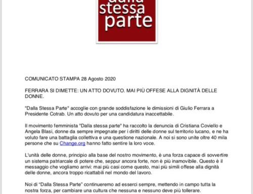 28 agosto 2020 Giulio Ferrara si è dimesso